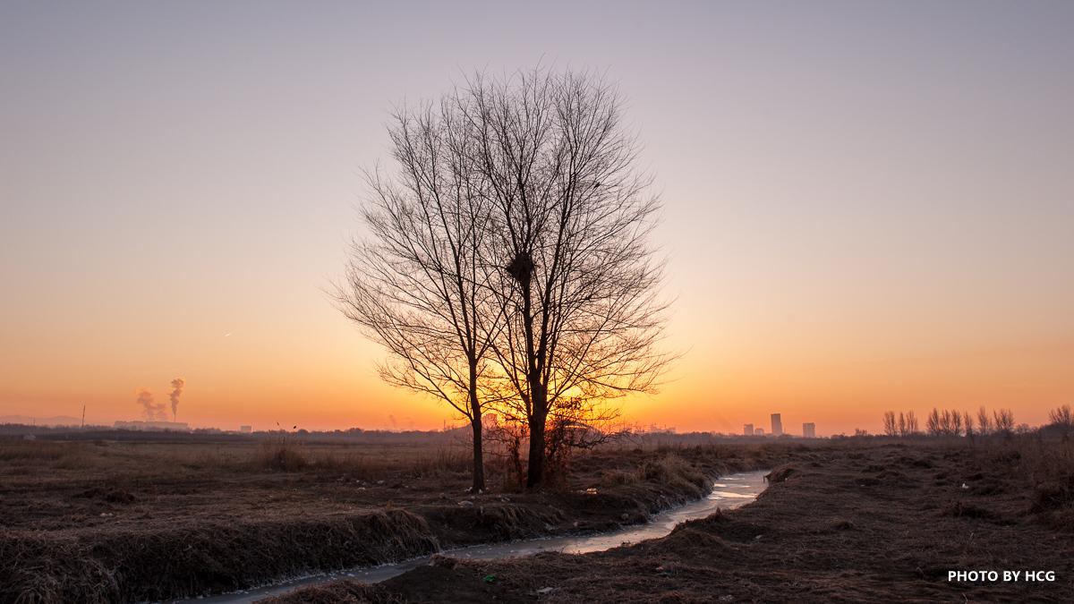 包头清晨风景照片